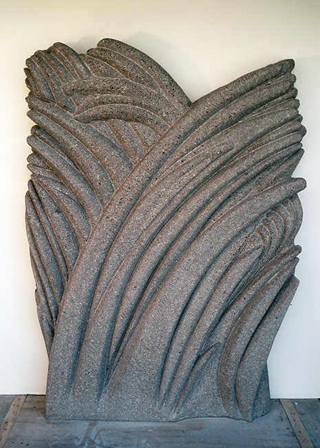 Simon Muscat Goldsmith - <i>Granite Grass</i>, South African granite, 45.5 x 33 x 4 inches (115.5 x 84 x 10 centimeters)